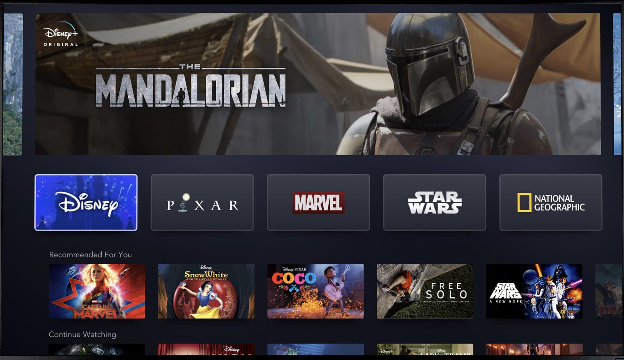 Watch all Disney movies (Pixar, Star Wars, Marvel) and series for $6.99 per month