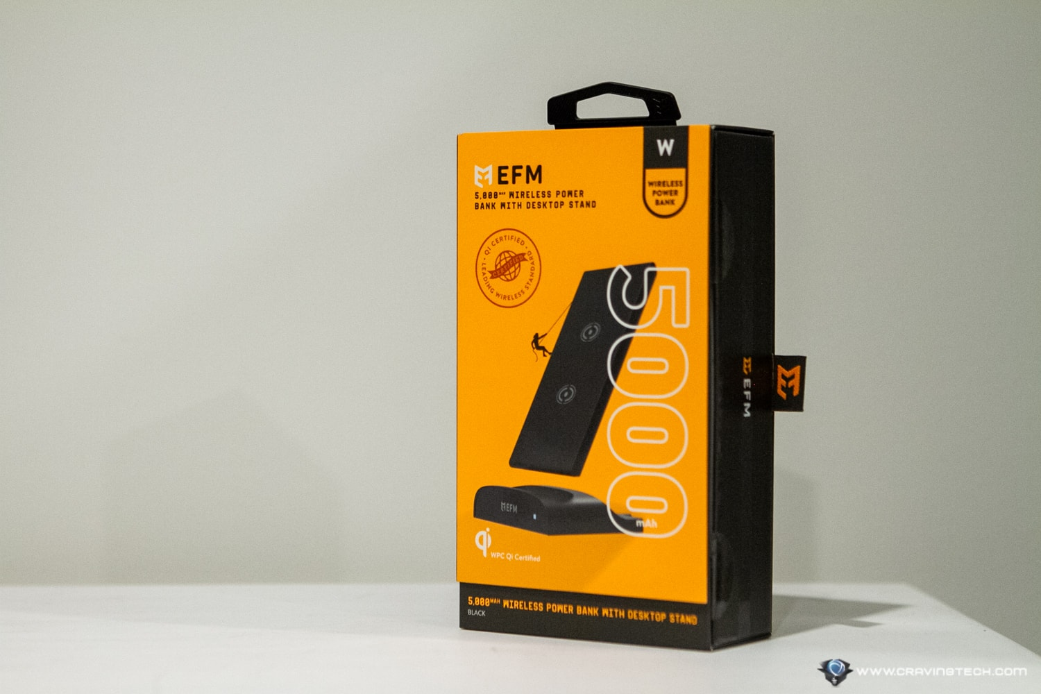 EFM Wireless Power Bank with Desktop Stand Review Packaging