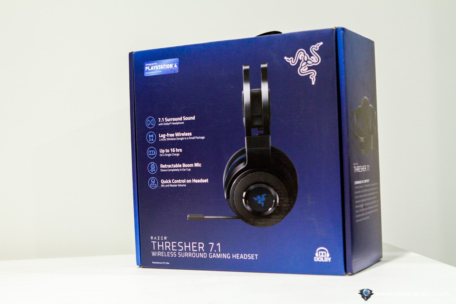 Razer Thresher 7.1 Wireless Gaming Headset Packaging