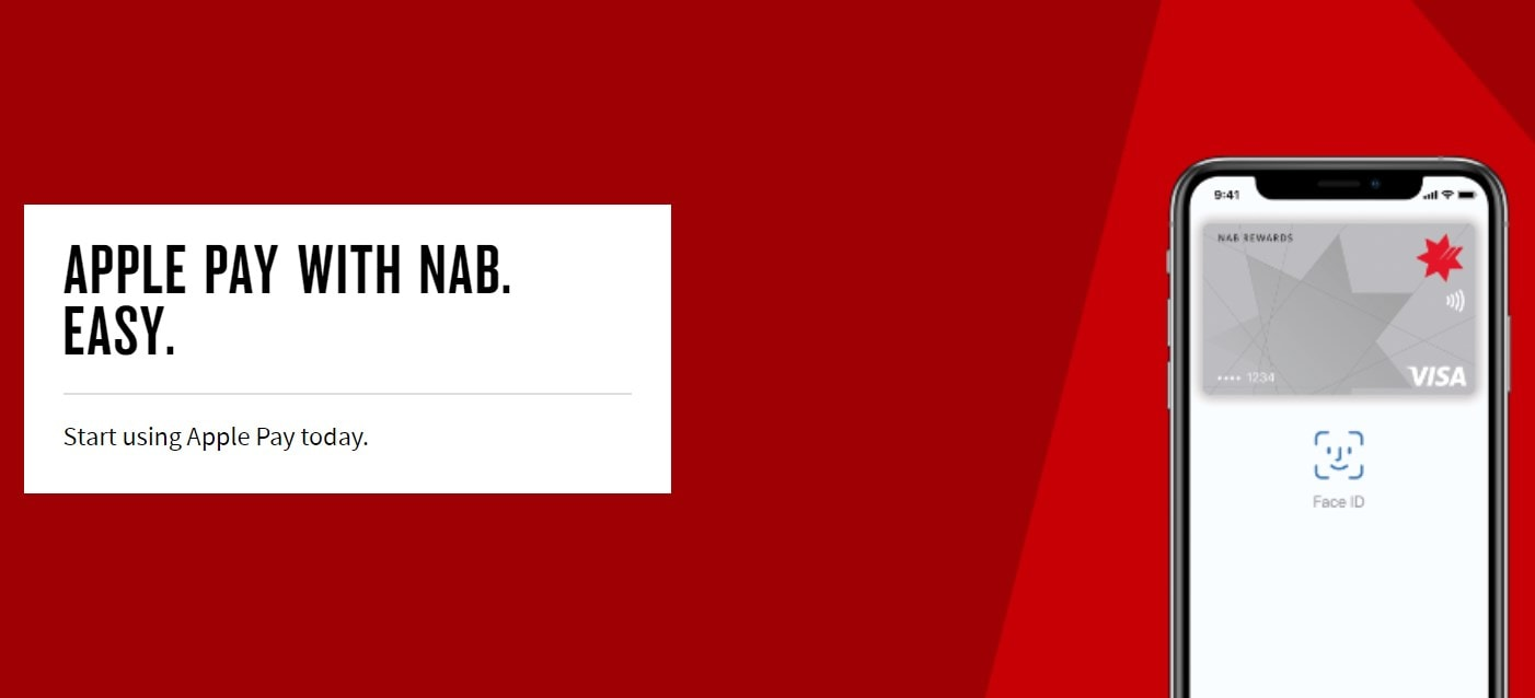 NAB Bank now supports Apple Pay