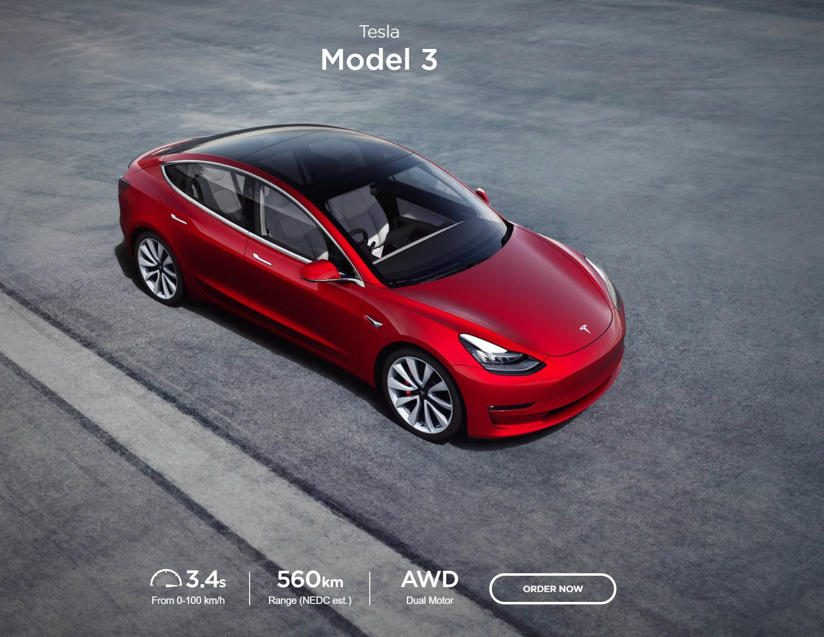 Tesla Model 3 order is now live for Australia, pricing starts from $71,285 Drive Away Price