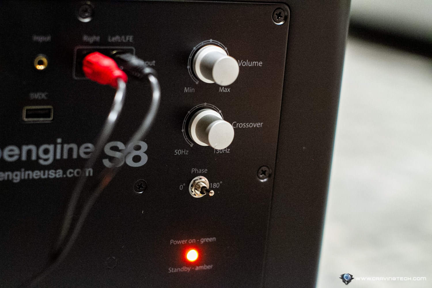 AudioEngine S8 Subwoofer Controls