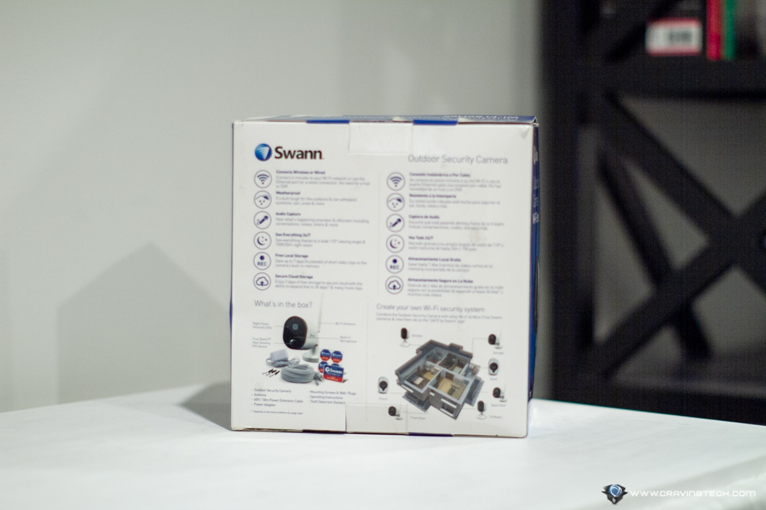 Swann 1080p HD Wi-Fi Outdoor Camera Packaging