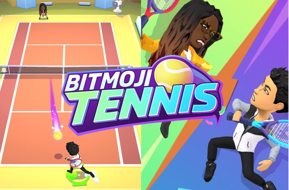 A fun, multiplayer game on Snapchat – Bitmoji Tennis