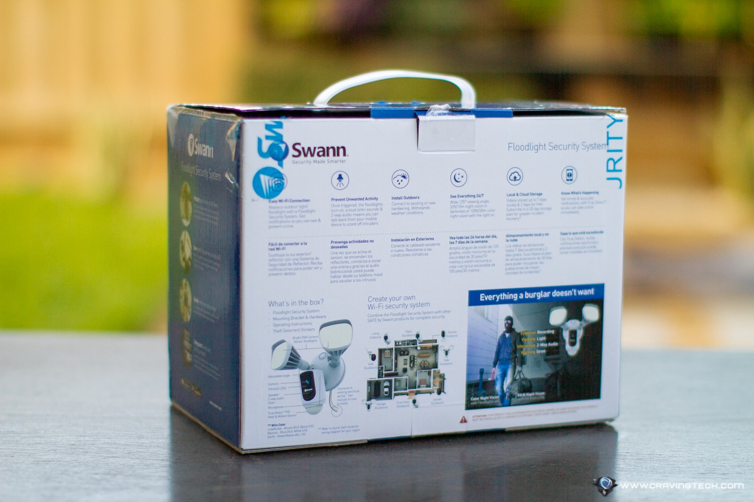 Swann Floodlight Security Camera Packaging Contents