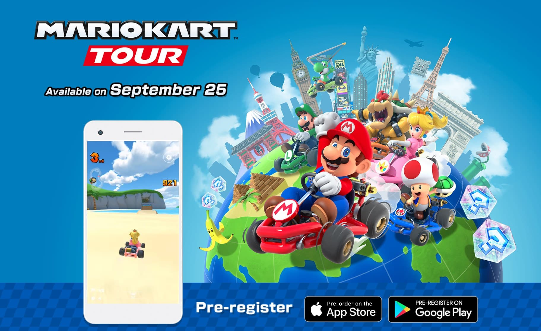 Mario Kart on iOS and Android is coming on 25th of September!