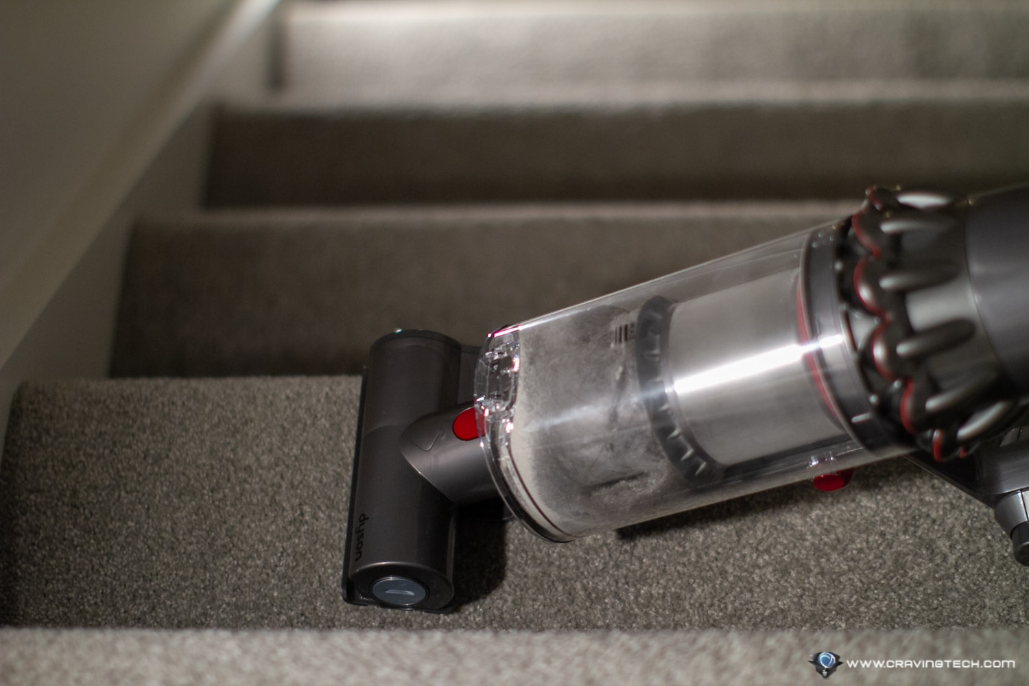 Dyson V11 Absolute Review - Vacuuming Stairs