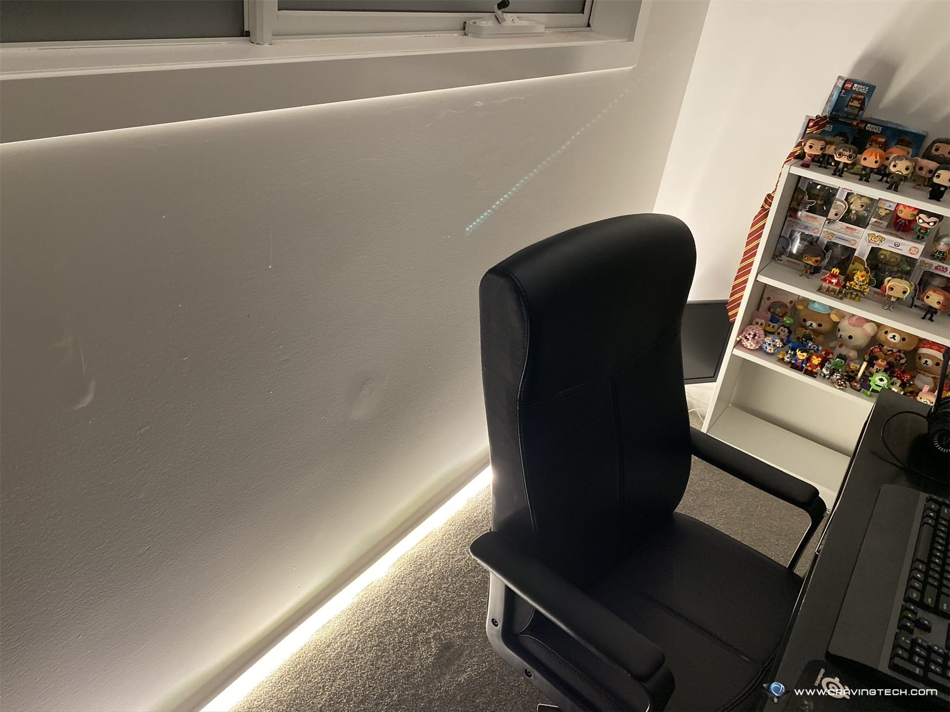 LIFX Z LED Lightstrips in Study area