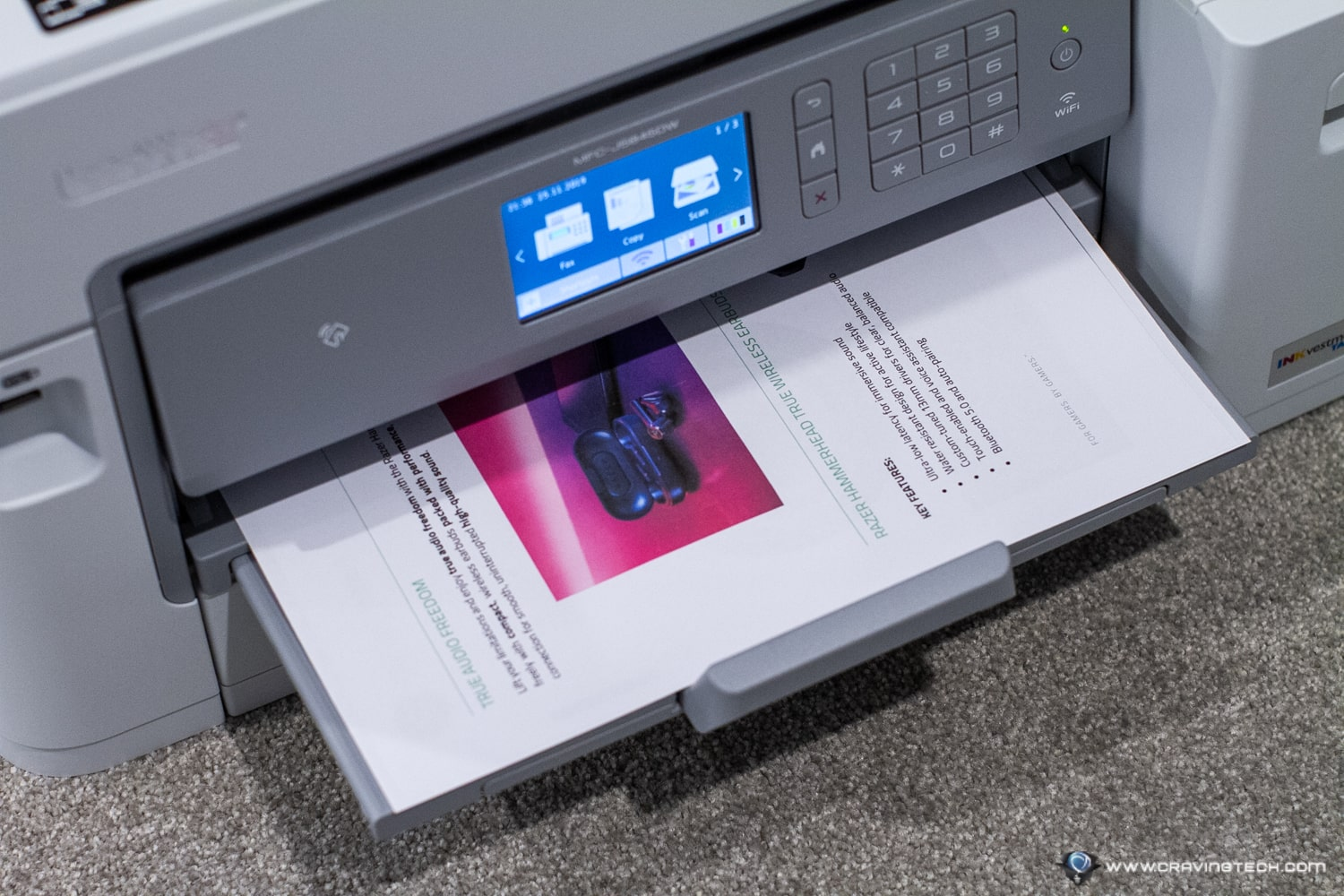This Multi-Function Brother Printer comes with a generous 2-years of ink supply