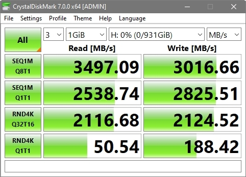 CrystalDiskMark 7 WD Black SN750