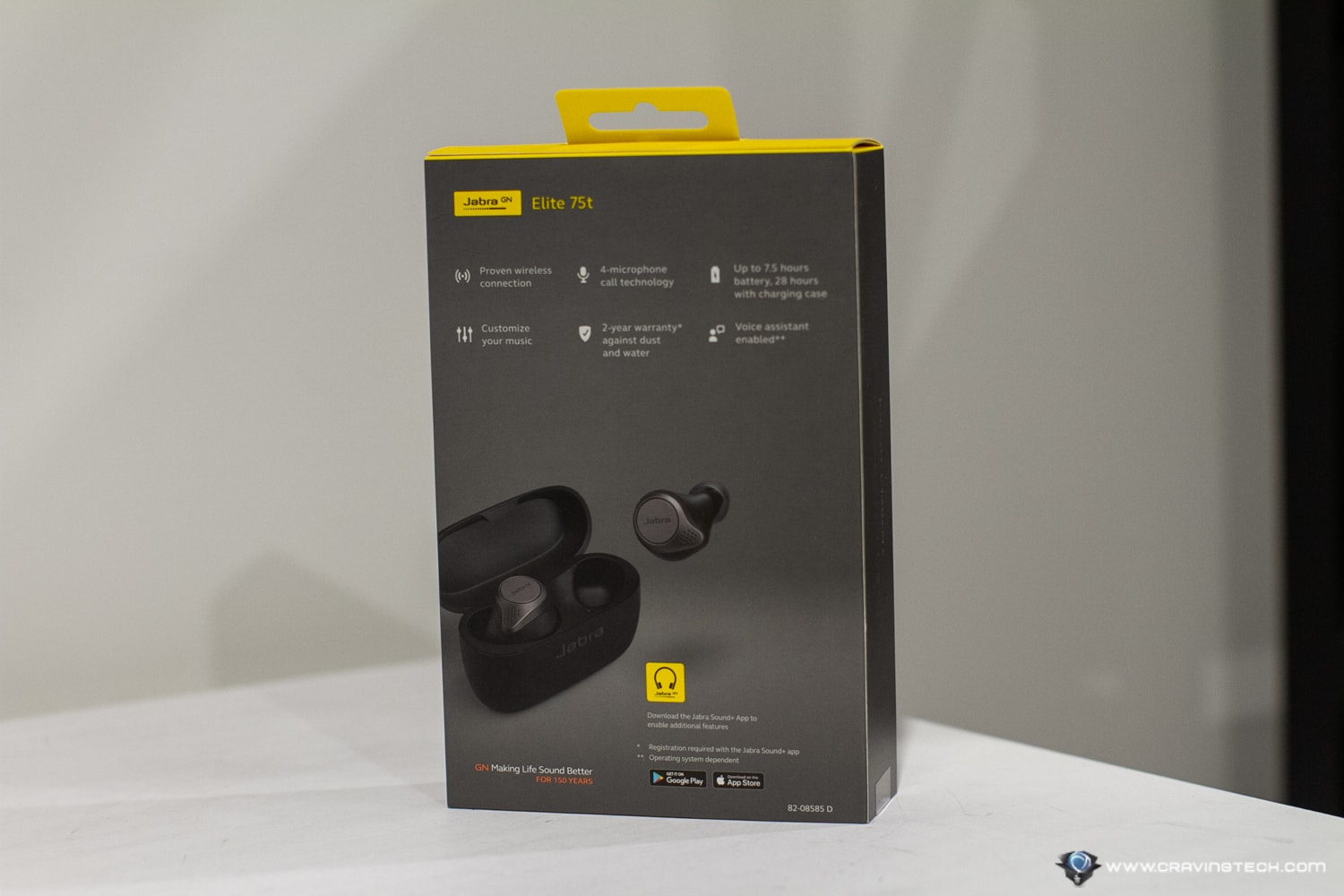 Jabra Elite 75t Packaging and Unboxing
