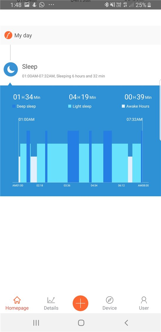LASER V-Fitness app sleep