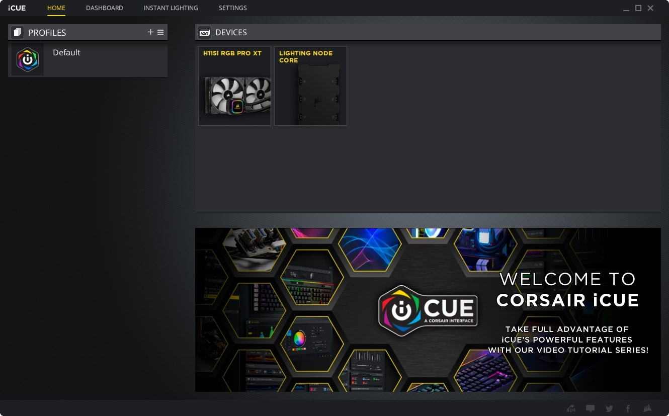 CORSAIR iCUE Dashboard