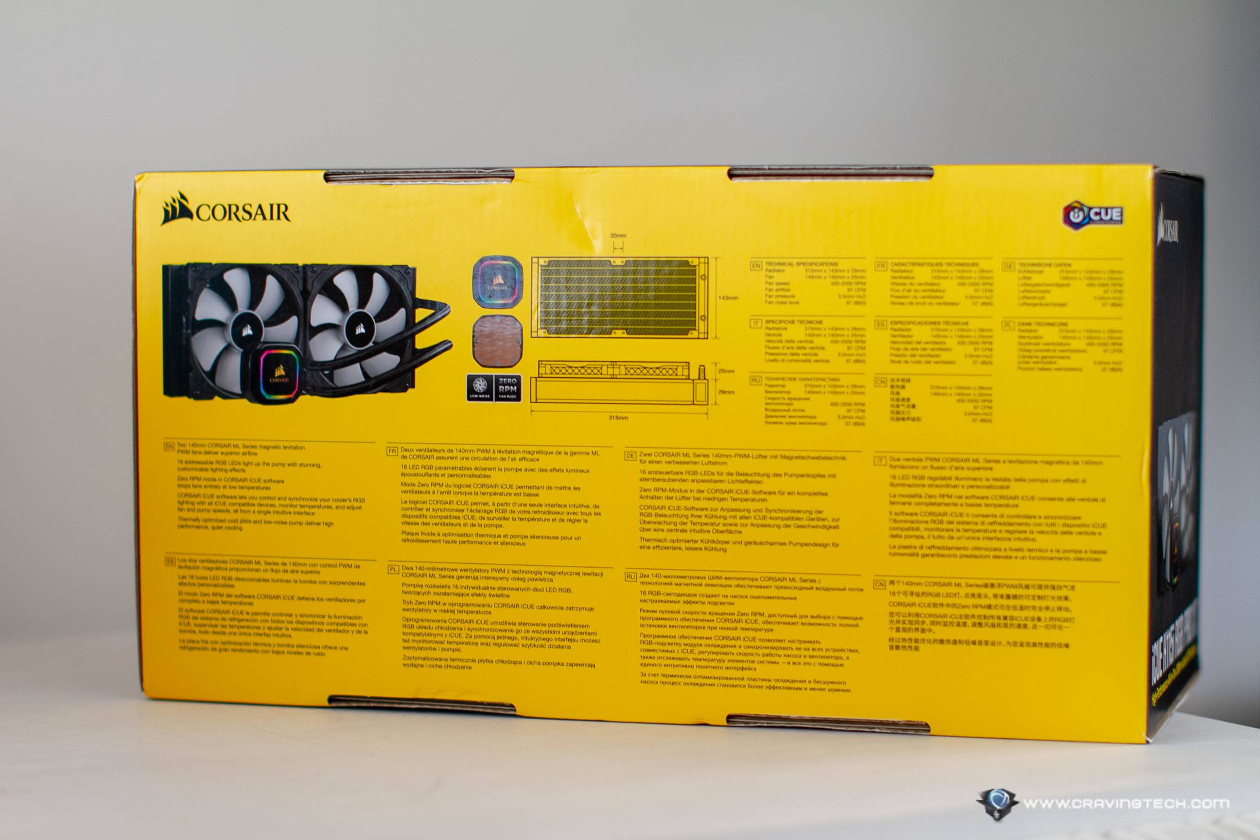 CORSAIR iCUE H115i RGB PRO XT Packaging