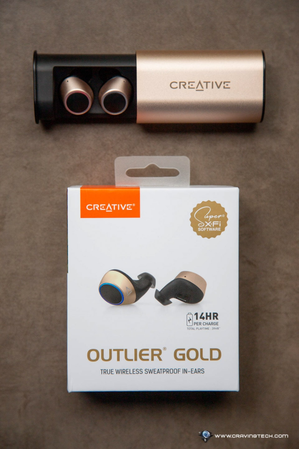 Creative Outlier Gold Packaging