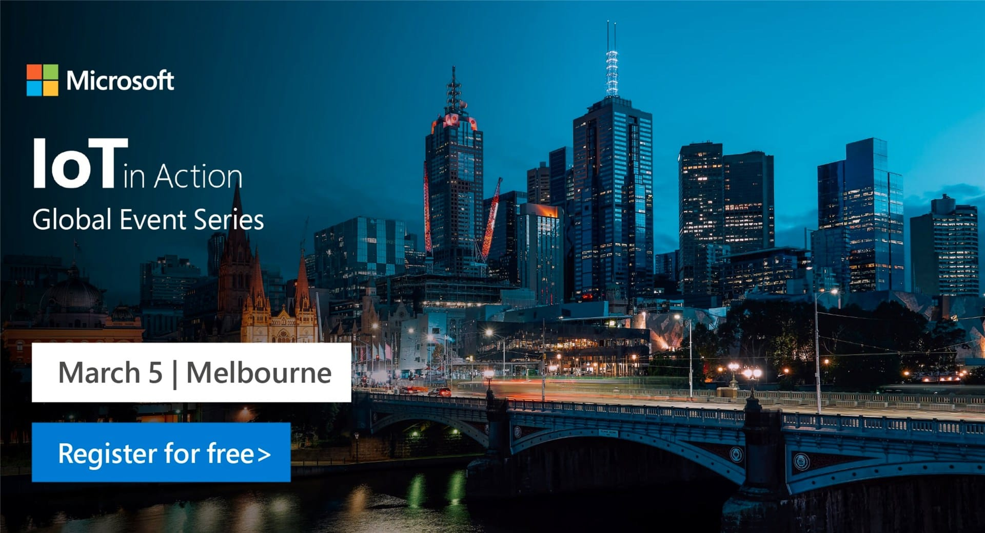 Microsoft IoT in Action Event for this year is being held in Melbourne. Registration opens NOW