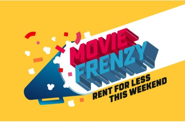 Rent award winning Holywood movies cheaply during the upcoming Movie Frenzy this weekend!