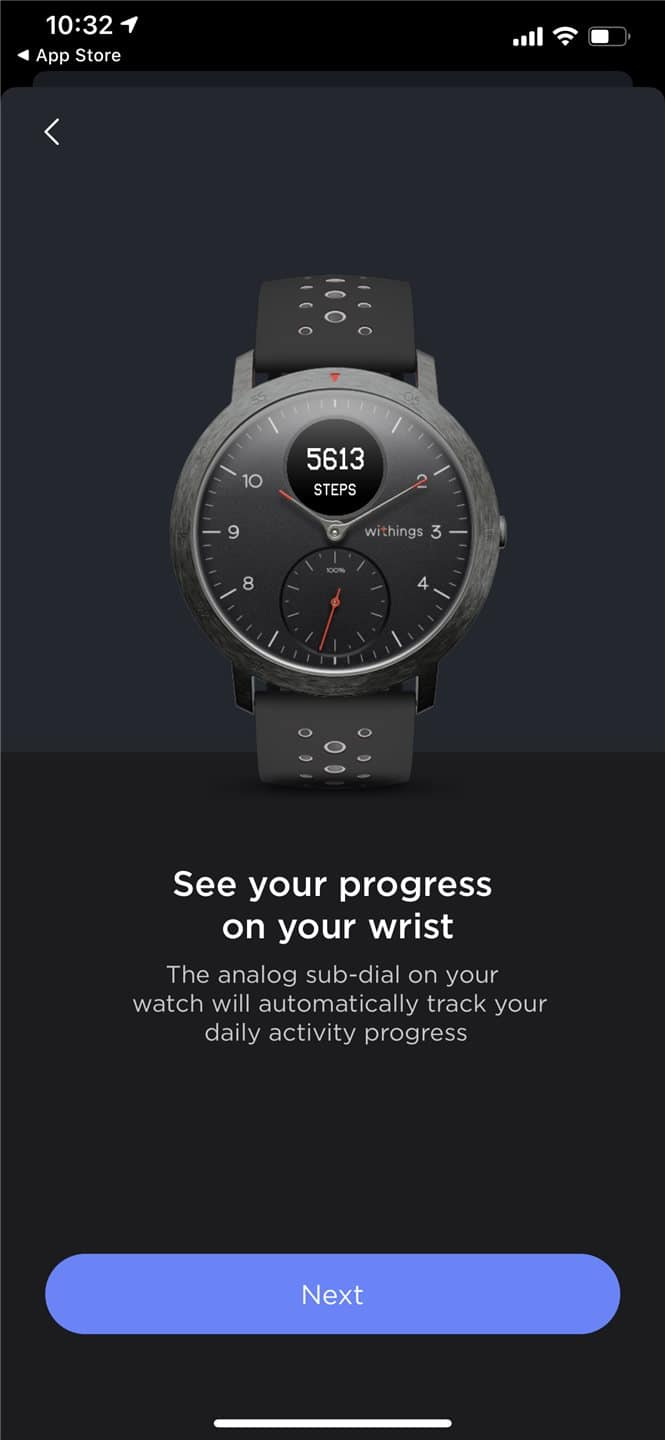 Withings Steel HR Sport app