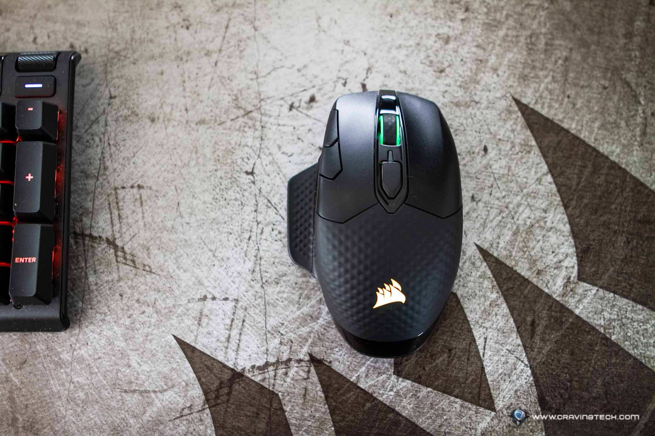 Wireless mouse with 2,000Hz polling rate – CORSAIR DARK CORE RGB PRO Review