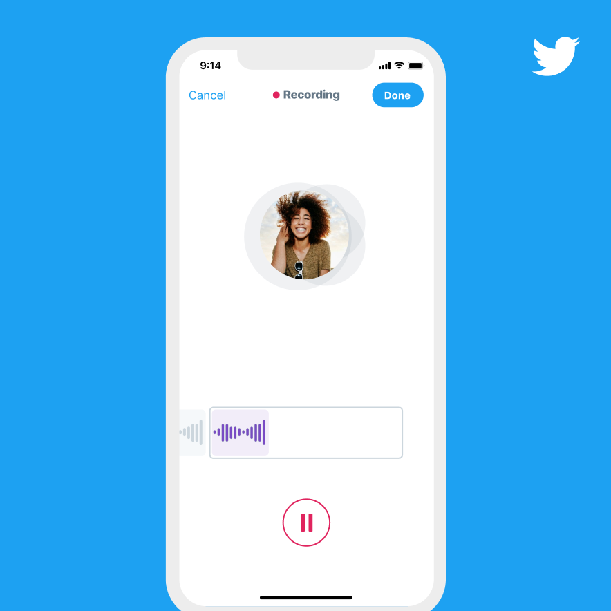 You can now tweet with your actual voice on Twitter
