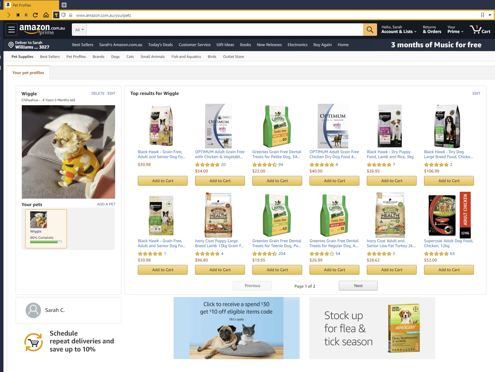 You can now add your pet to your Amazon account