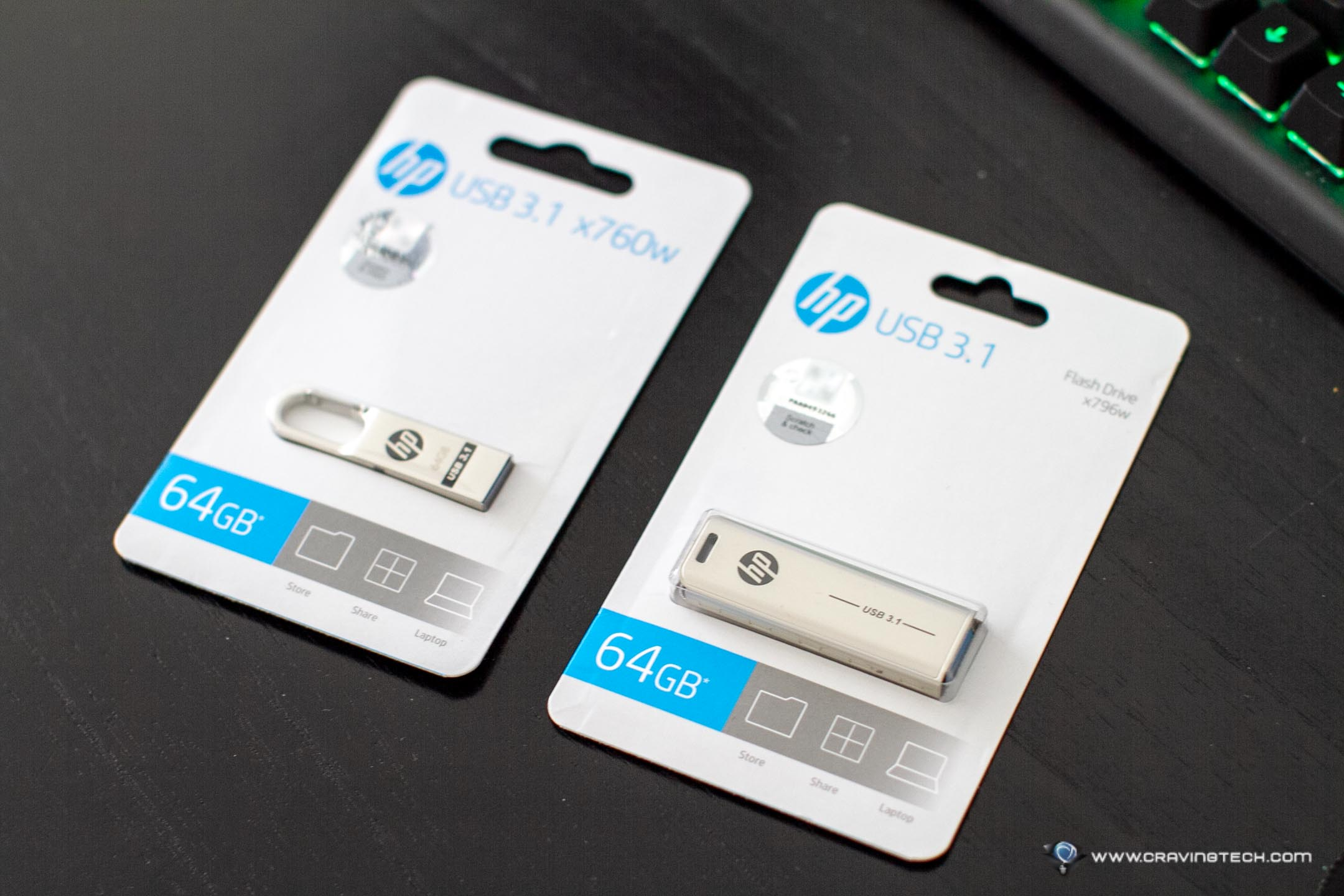 Tiny but durable USB flash drives from HP