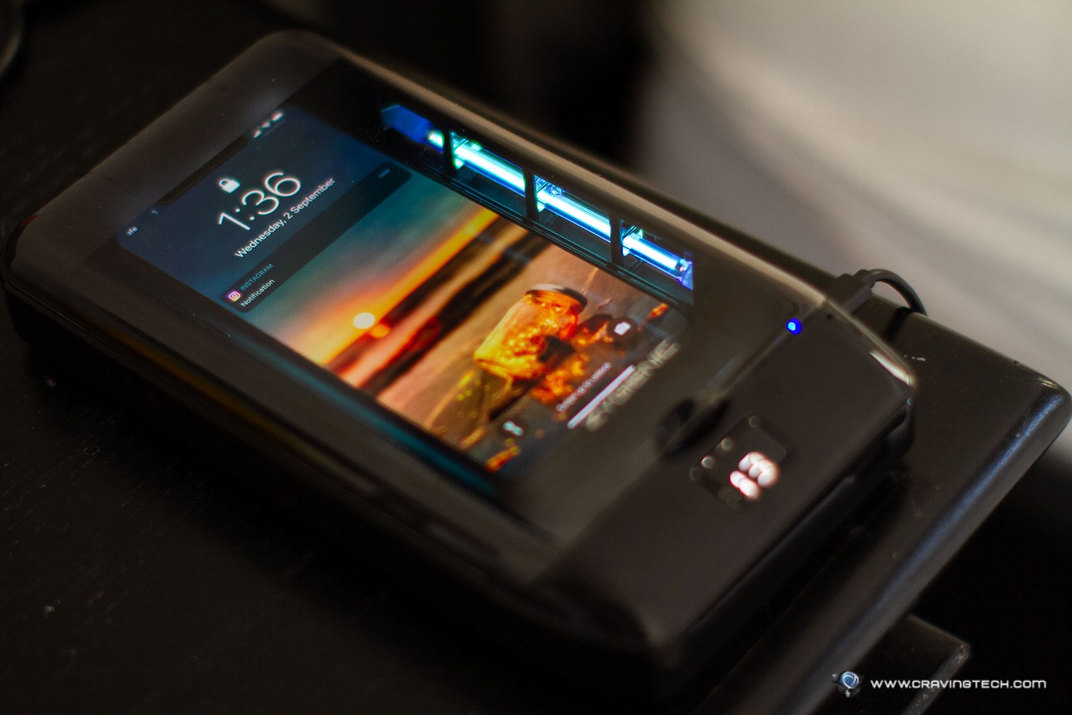 A portable gadget to sanitise your phone – Zygienic UV Phone Sanitizer