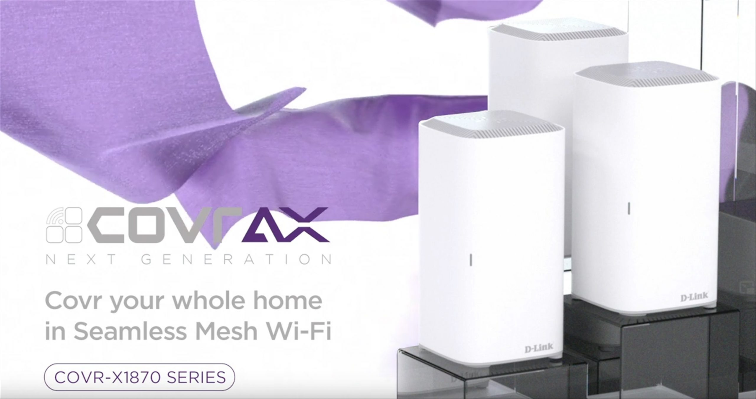 D-Link launches their new Wi-Fi 6 Mesh Router System, the COVR-X1870 Series