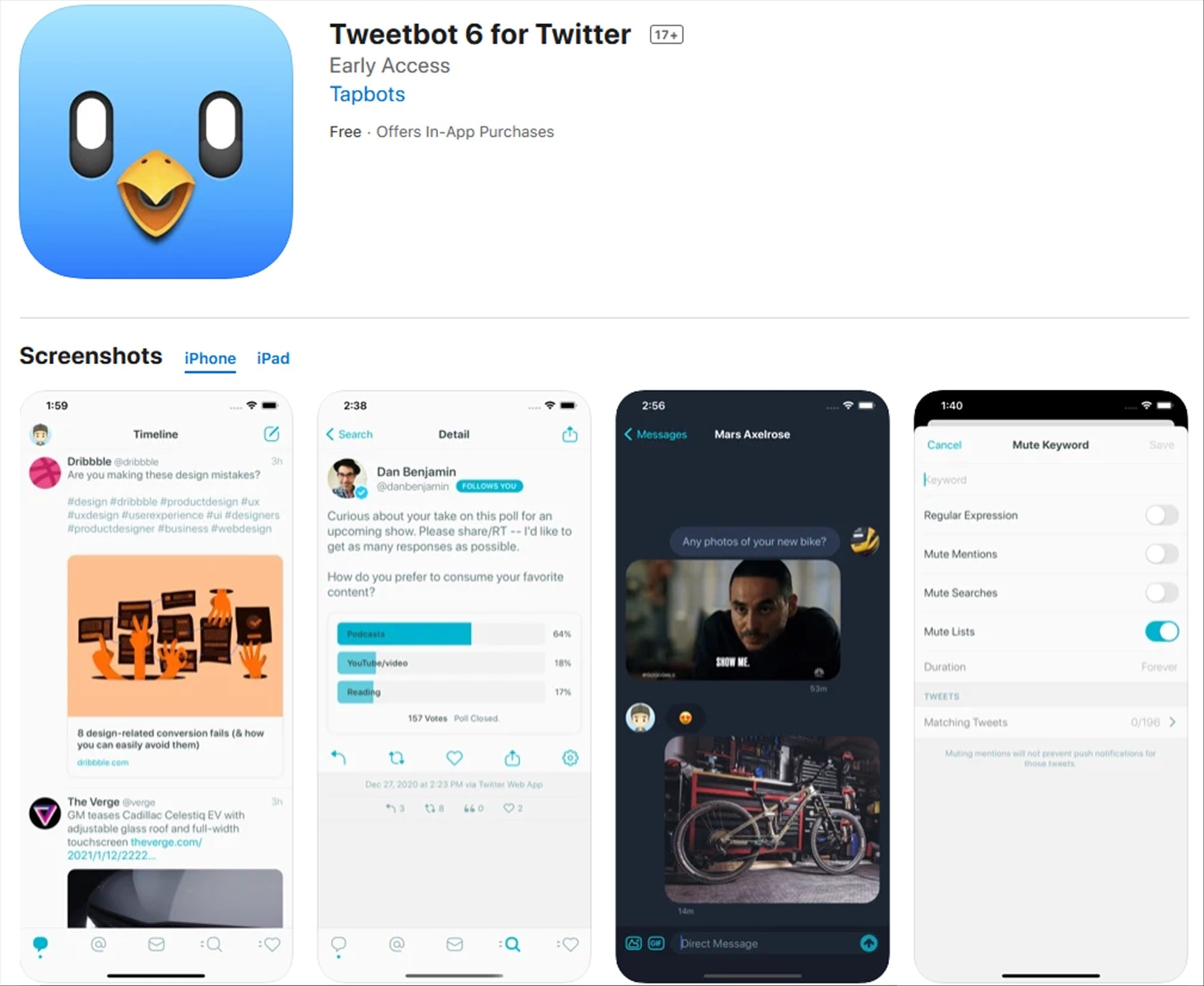 Best Twitter app on iOS goes subscription based