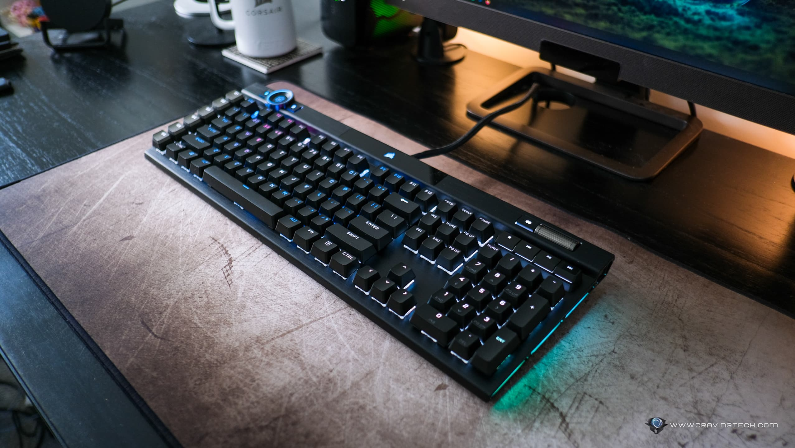 A fast gaming keyboard with optical switches and 4,000Hz polling rate – CORSAIR K100 RGB with (OPX Optical-Mechanical Switches) Review