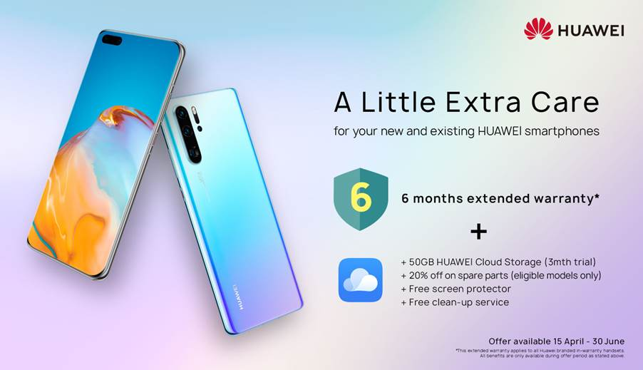 Get extended warranty & extra Cloud storage from Huawei