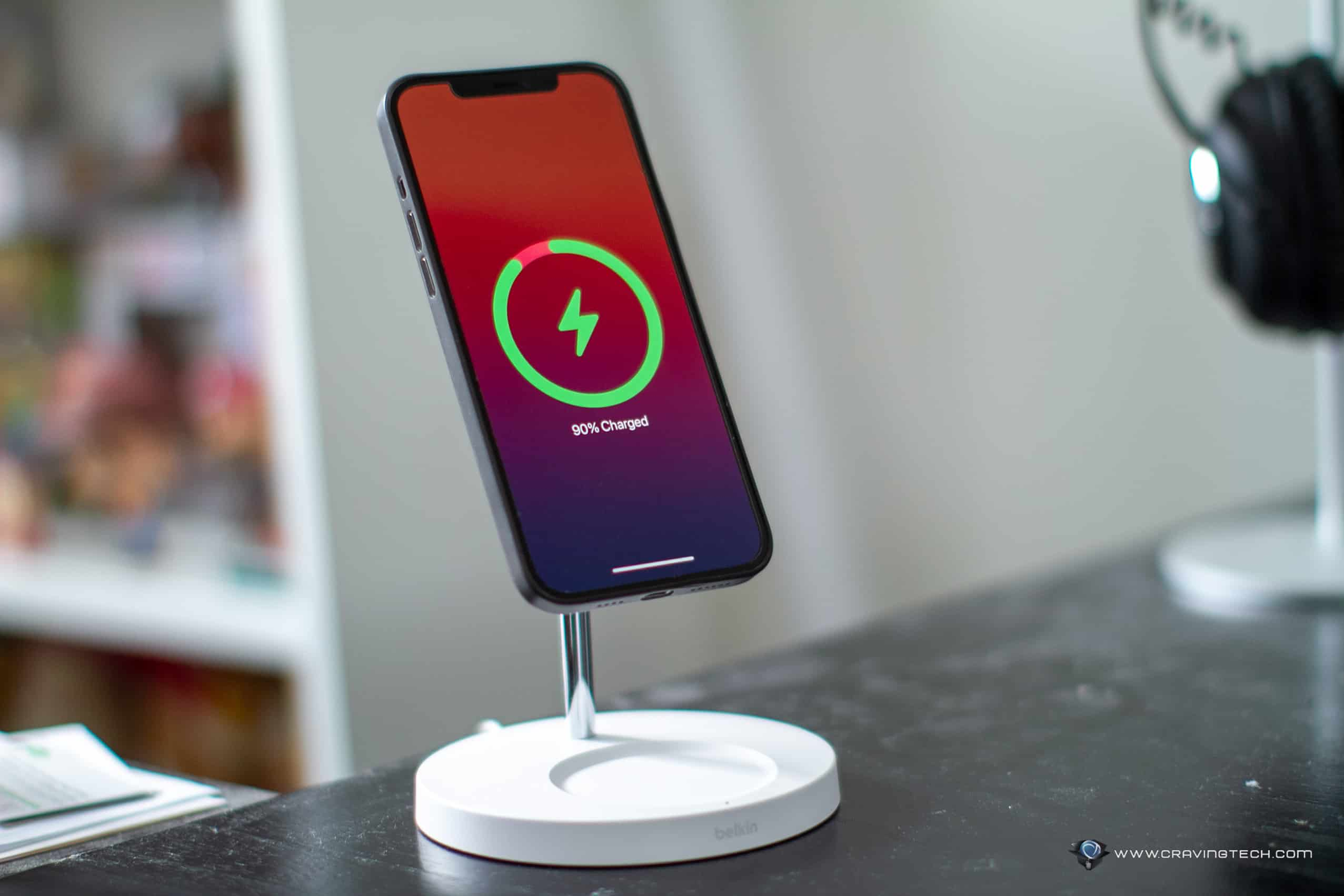 Belkin BOOST CHARGE PRO 2-in-1 Wireless Charger Stand with MagSafe 15W Review